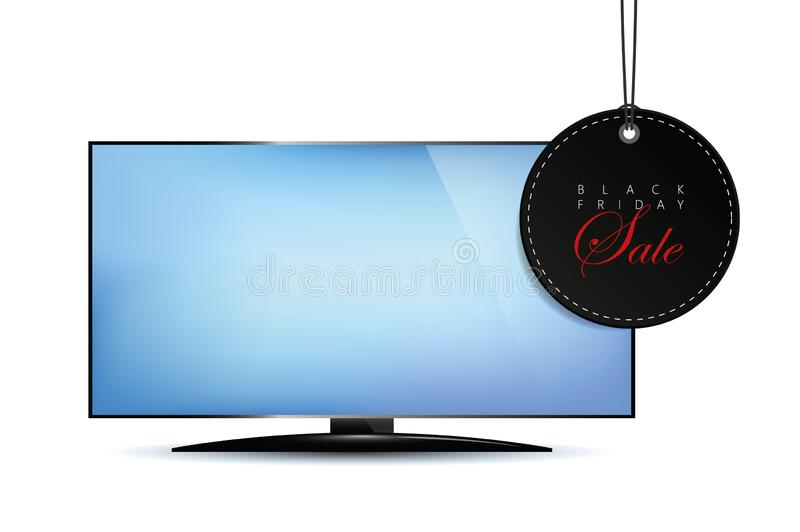 Black Friday sale advertising television stock illustration