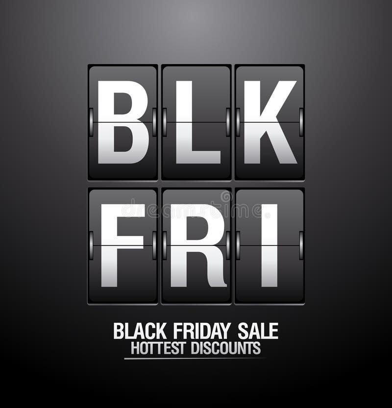 Download Black Friday Sale Analog Flip Clock. Stock Vector - Illustration: 34123198