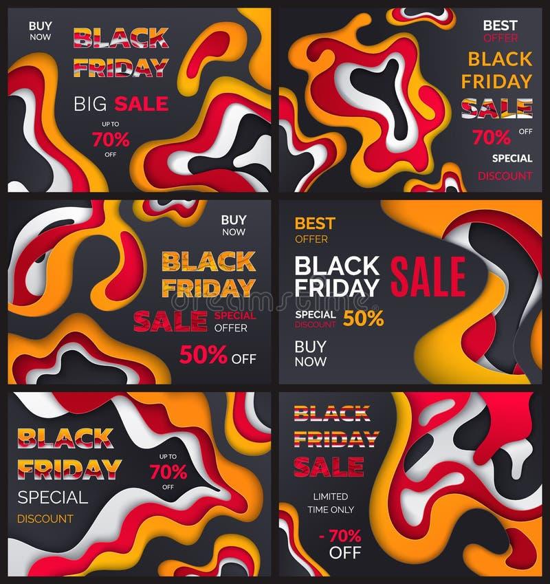 Black Friday Sale, bästa erbjudande av Autumn Season royaltyfri illustrationer