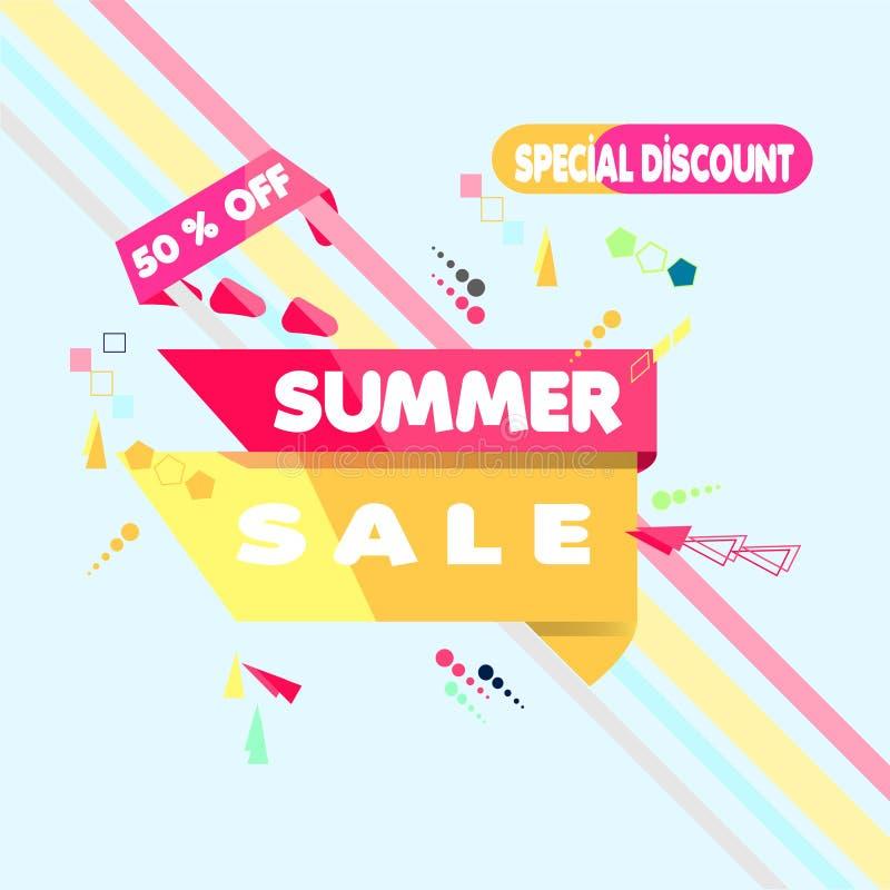 Black friday sale background. For art template design list, pageVector illustration. Summer Sale Banner Design Template. Special D stock illustration