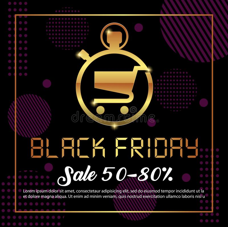 Black Friday Sale background. Black friday sale banner design. vector illustration stock images
