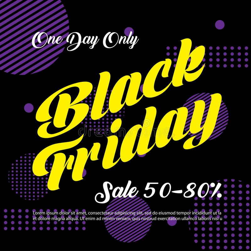 Black Friday Sale background. Black friday sale banner design. vector illustration royalty free stock images