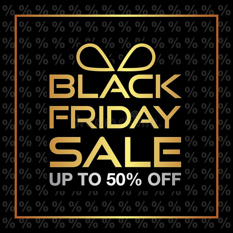 Black Friday Sale background. Black friday sale banner design. vector illustration royalty free stock photography