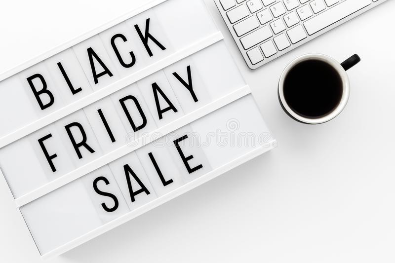 Black friday sale background top view royalty free stock image
