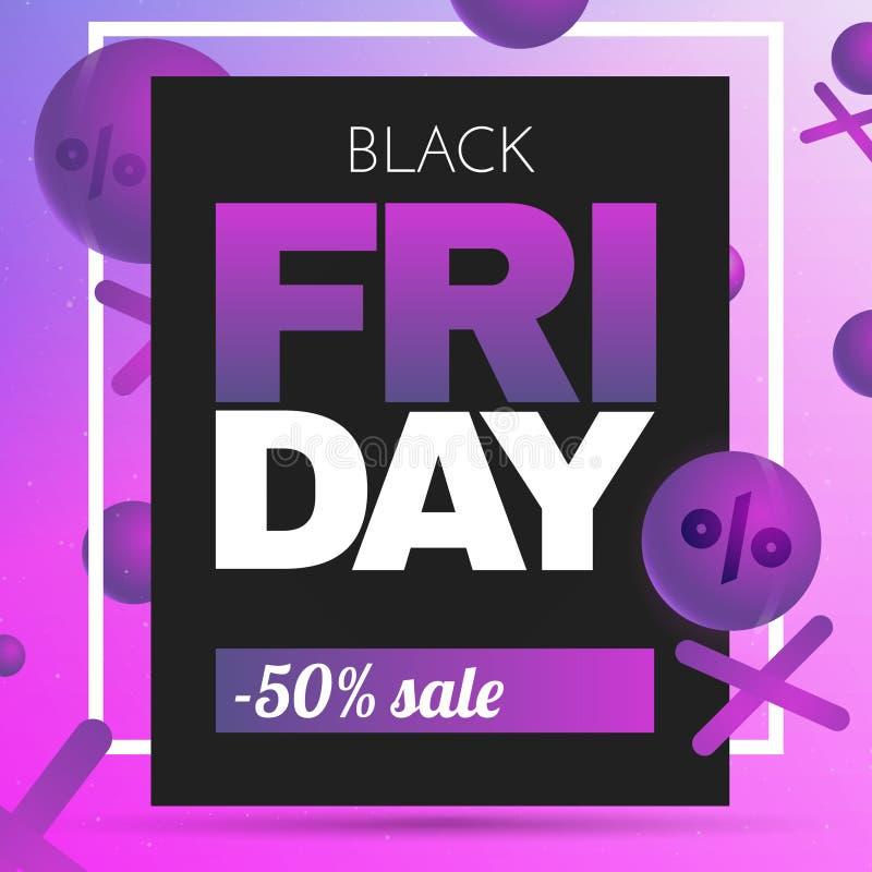 Black Friday Sale Background. Vector Sale Illustration royalty free illustration