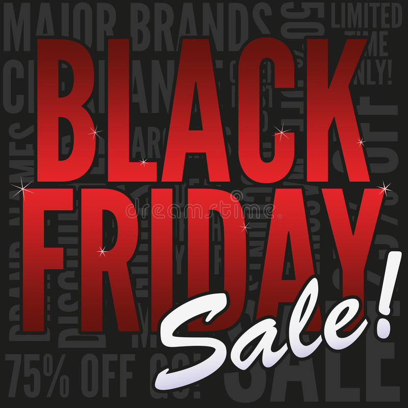 Black Friday Sale Banner. Square web banner promoting a Black Friday sale