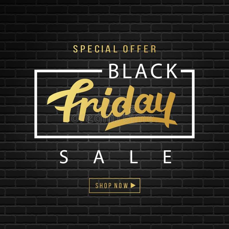 Black Friday Sale Banner Background royalty free illustration