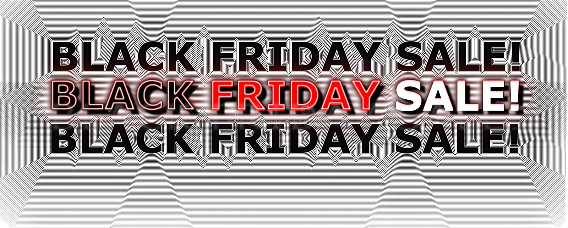 Black Friday sale banner royalty free illustration