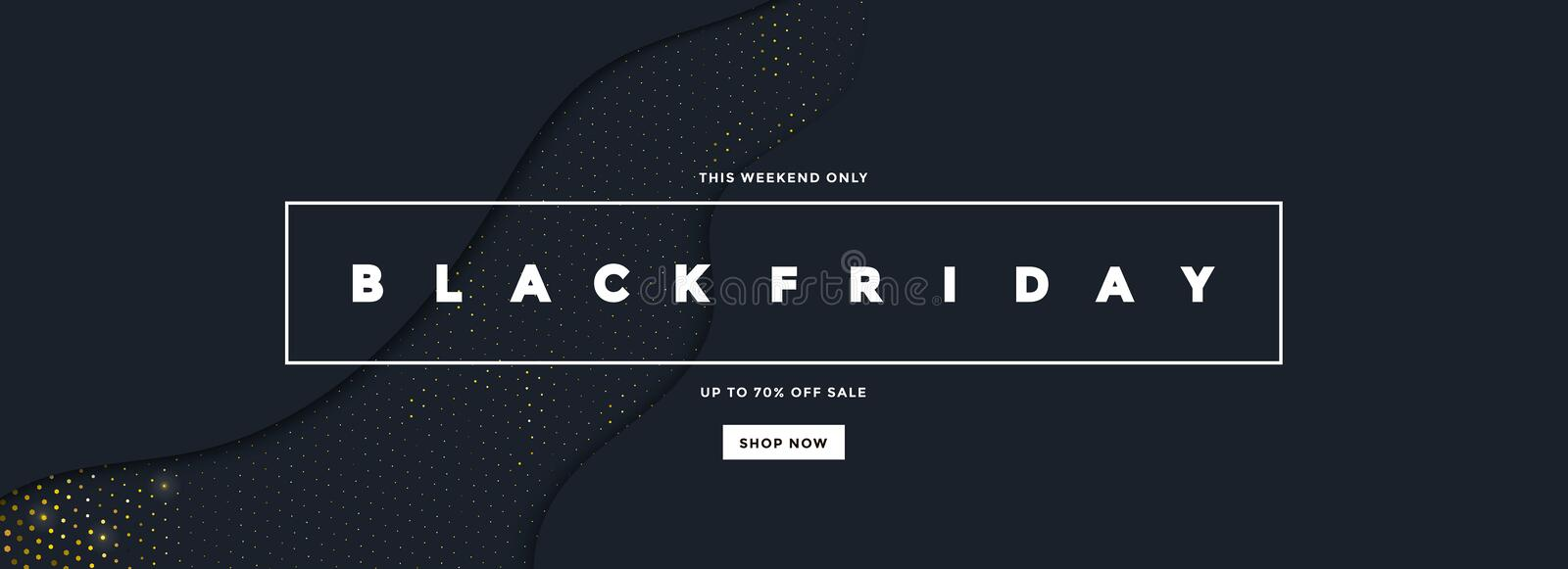 Black Friday Sale Banner 6. Black Friday sale poster or commercial discount event banner on black background with Halftone pattern. Social media template for vector illustration