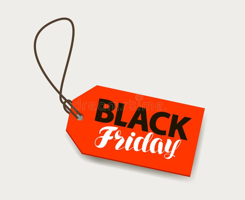 Black Friday, Sale banner. Price tag, shopping concept. Black Friday, Sale banner. Price tag, shopping concept Lettering vector vector illustration