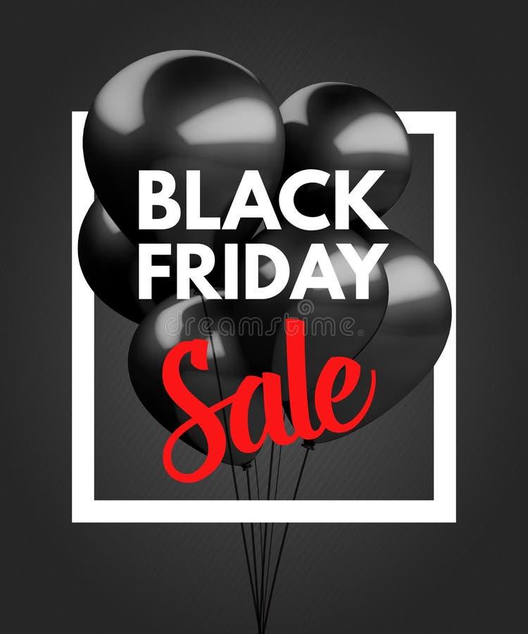 Black Friday Sale concept background stock illustration