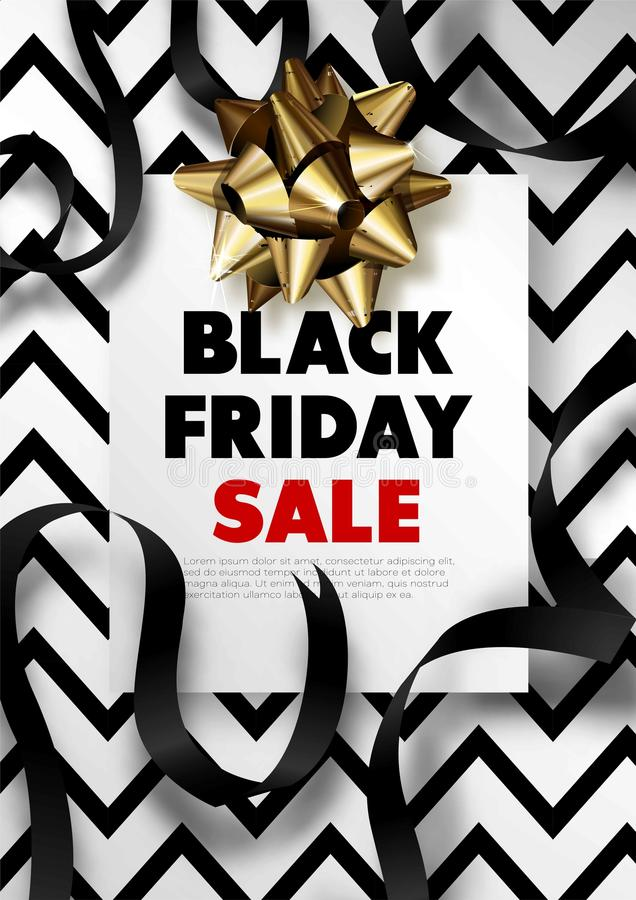 Black Friday sale discount promo offer poster or advertising flyer and coupon. Black Friday sale discount promo offer poster or advertising flyer and coupon vector illustration