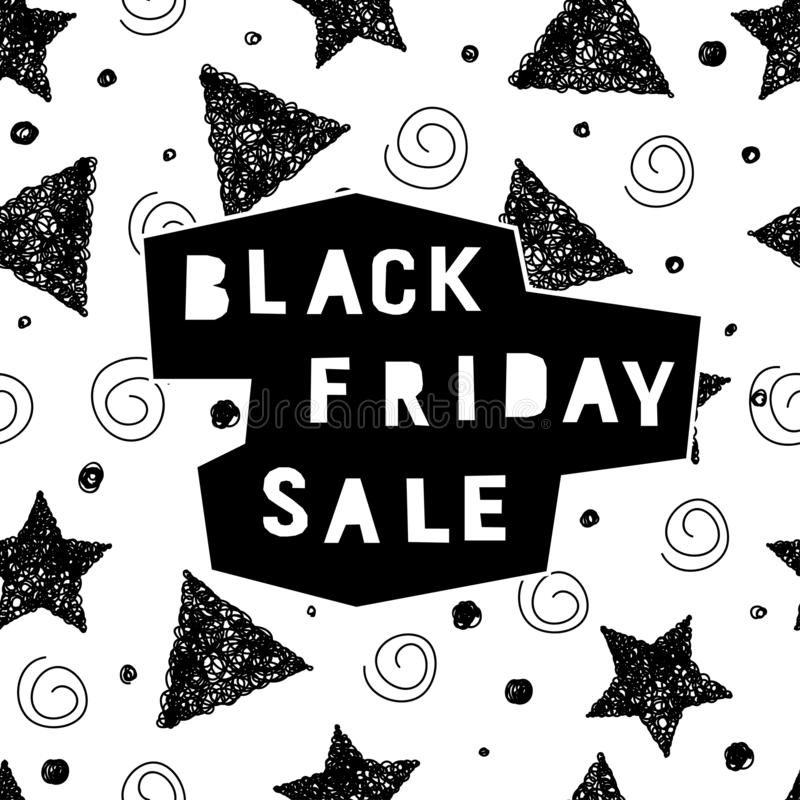 Black friday sale event theme. Abstract black friday pattern royalty free illustration