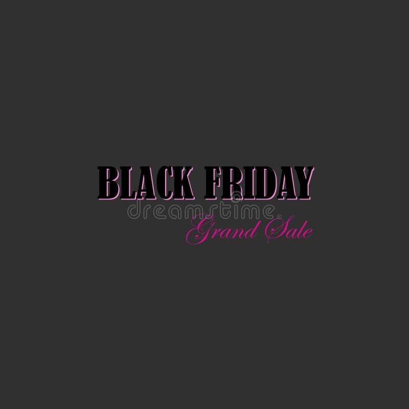 Black friday sale. grand sale vector illustration