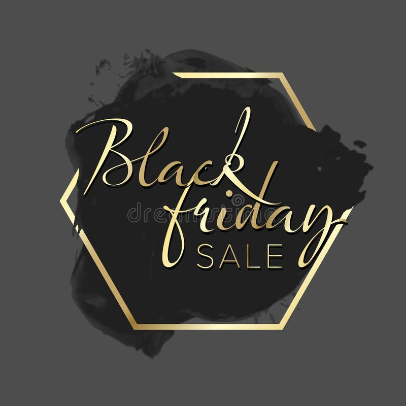 Black Friday sale label royalty free stock photography