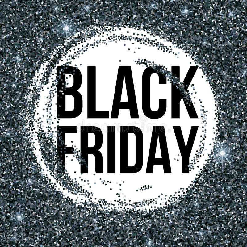 Black Friday Sale Lettering Background Template For Your Design