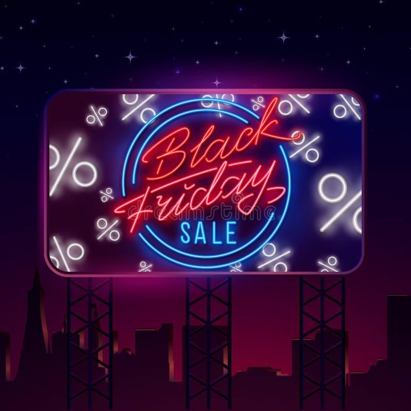 Black Friday Sale Neon Billboard, Theme Black Friday