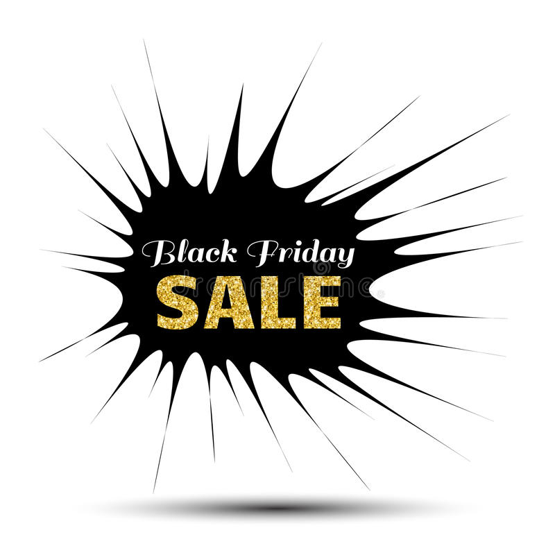 Black Friday Sale pointy Banner stock illustration