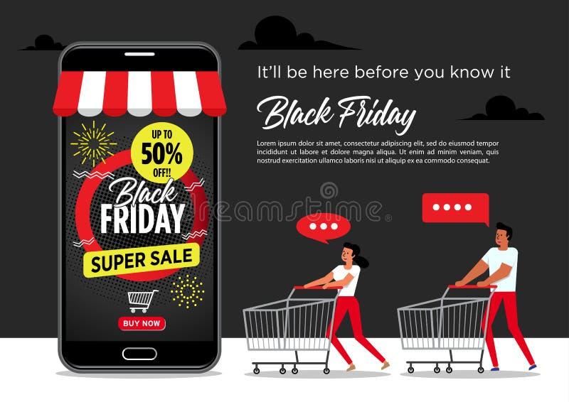 Black Friday Sale Poster. Vector illustration stock illustration