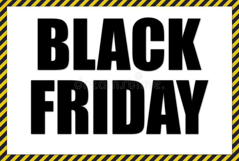 Black Friday sale poster. Illustration of the Black Friday poster royalty free illustration