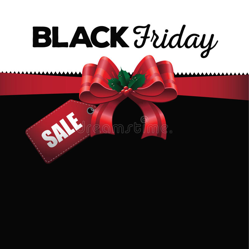 Black Friday sale ribbon background royalty free illustration