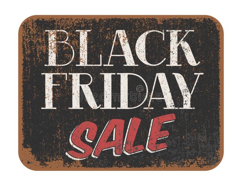 Black Friday Sale tappningtecken stock illustrationer