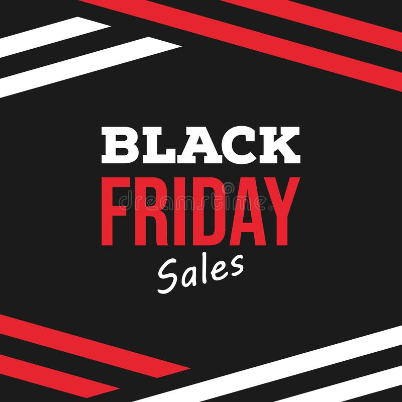 Black Friday sale template design. Black Friday lettering sign and logo. Text composition on black background stock illustration