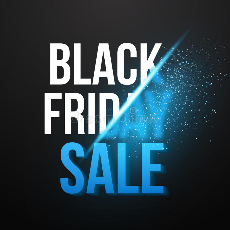 Black Friday Sale Vector Exlosion Poster Template. Huge November vector illustration