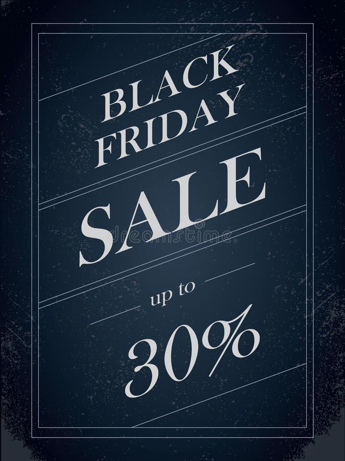 Black Friday Sale vektorbaner med percentual rabatterbjudande i dekorativ konstnärlig stil för tappningpapper royaltyfri illustrationer