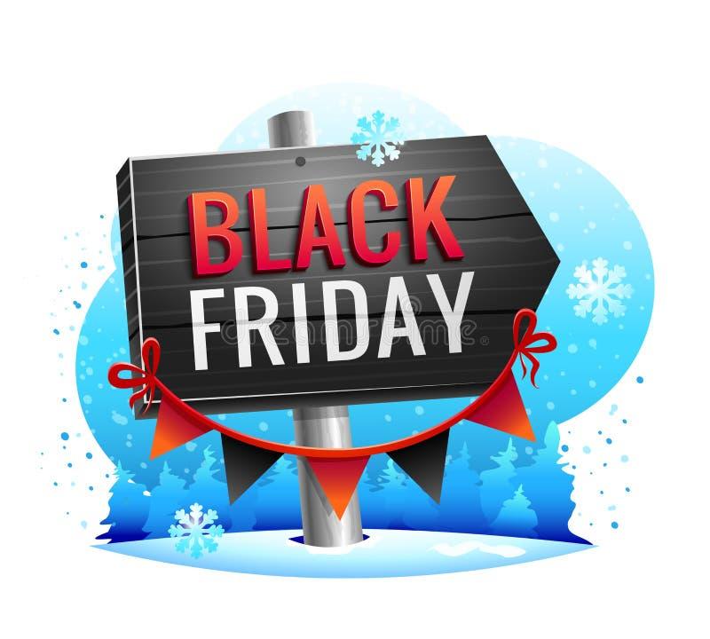 Black Friday Sale vektorillustration royaltyfri illustrationer
