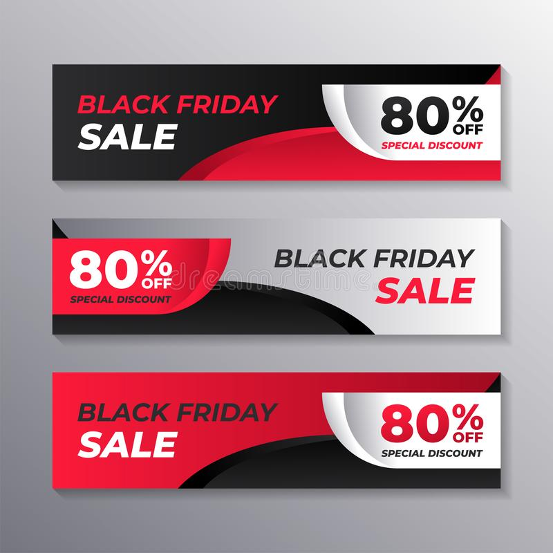 Black friday sale web banner template, layout background design, Corporate Geometric web header or footer. Vector stock illustration