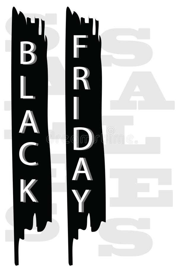 Black friday sales logo vector - seasonal discount shopping. Business concept stock illustration