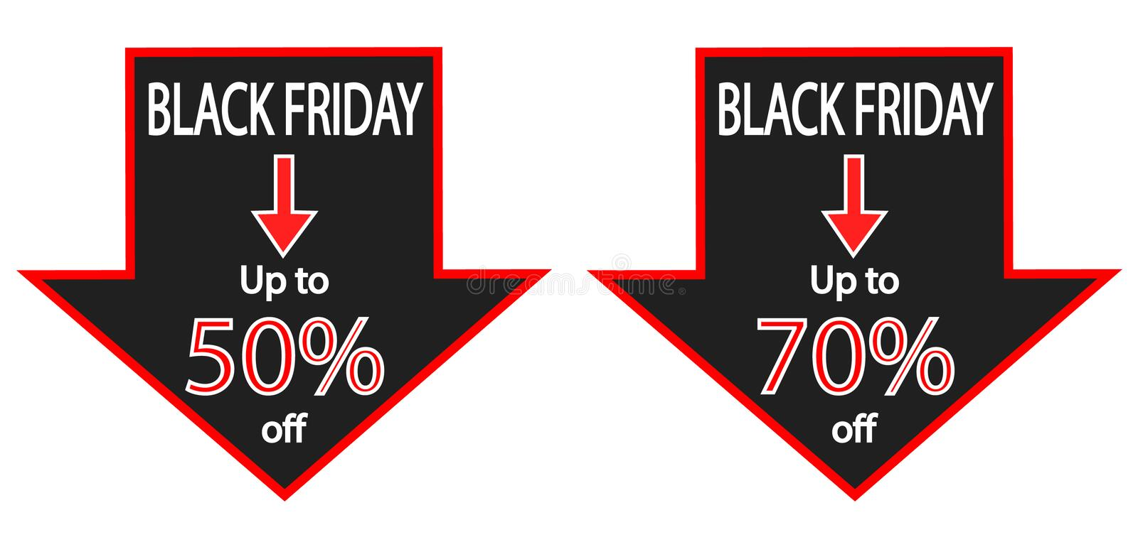 Download Black Friday Savings Ads stock illustration. Image of discount - 35784598