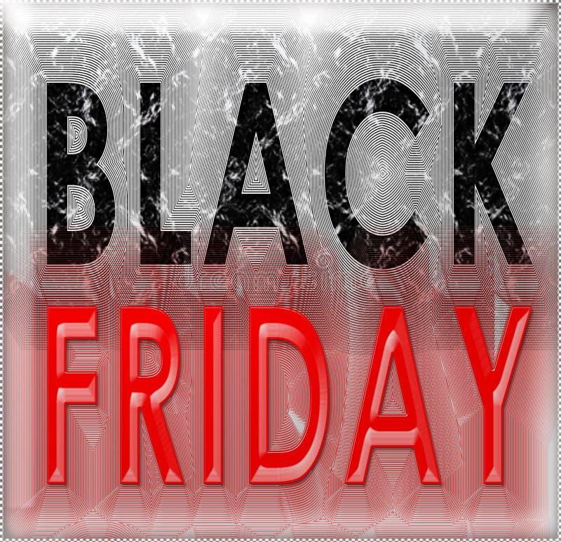 Black Friday-Schmutzweinlese stock abbildung
