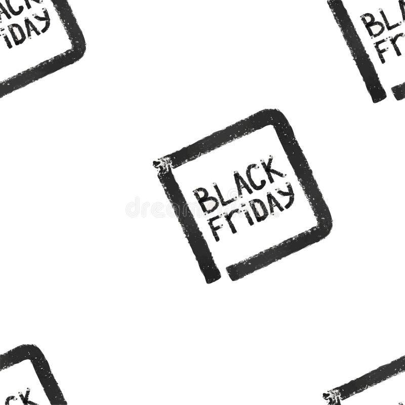 Black friday. Seamless pattern. Sale. stock photography