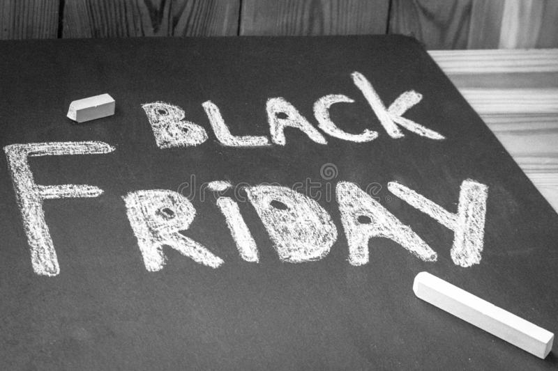 Black Friday - the season of low prices royalty free stock photo