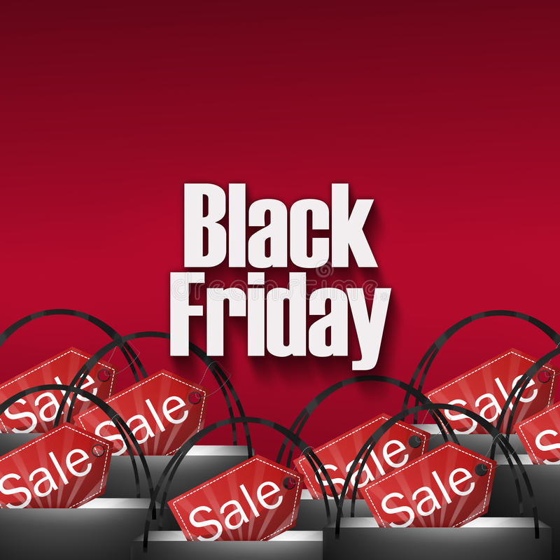Black Friday Shopping Bags. Design stock illustration