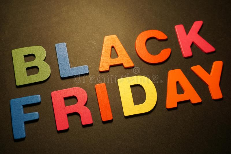 Black Friday. Shopping commercial store advertising sale buy royalty free stock photos