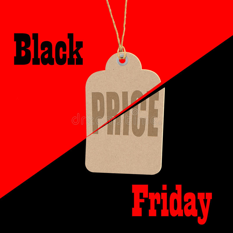 Black Friday shopping sale tag concept. Big sales day stock illustration
