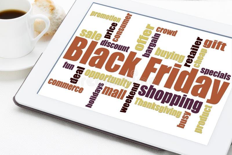 Black Friday som shoppar begrepp arkivfoton