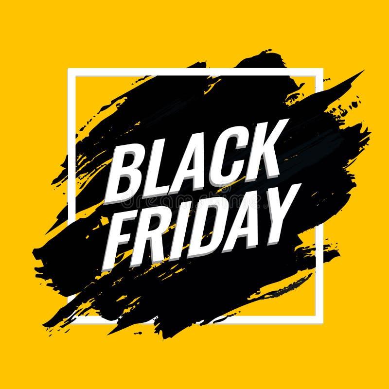 Black Friday sprzedaży tła Abstrakcjonistyczny sztandar ilustracji
