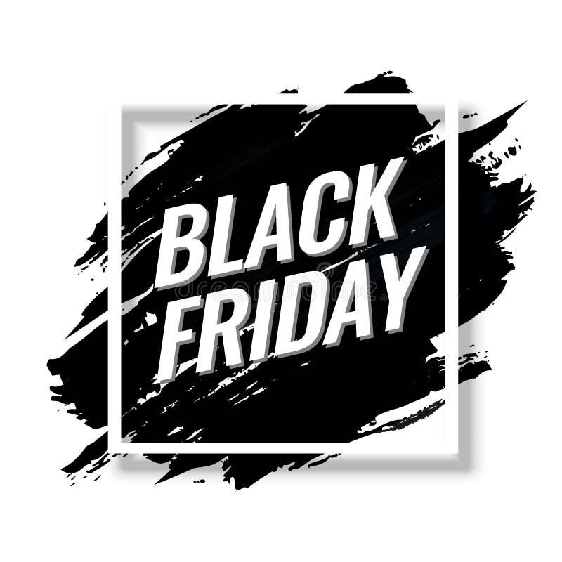 Black Friday sprzedaży tła Abstrakcjonistyczny sztandar ilustracja wektor