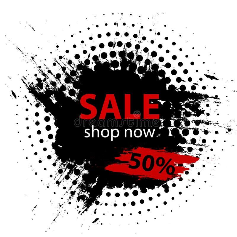 Black Friday sprzedaż 50% Lato sprzedaży sztandaru szablonu projekt również zwrócić corel ilustracji wektora ilustracja wektor