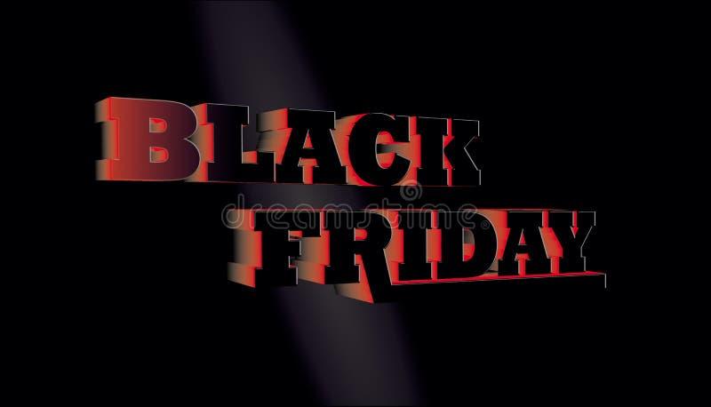 Black Friday sprzedaży abstrakta tło sztandaru eps10 kartoteka ablegrujący wektor 3d tekst ilustracji