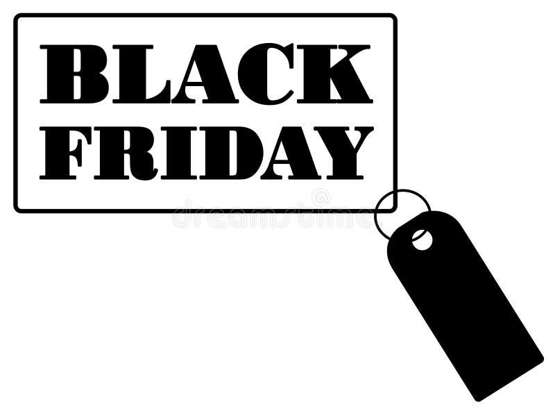 Black Friday sprzedaży czerni majcher ilustracja wektor