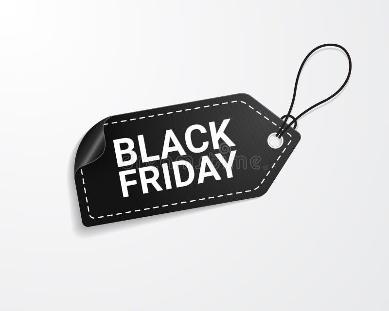 Black Friday sprzedaży etykietka royalty ilustracja