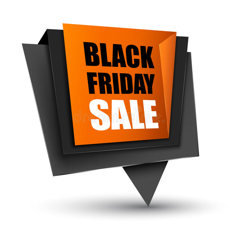 Black Friday sprzedaży etykietka ilustracja wektor