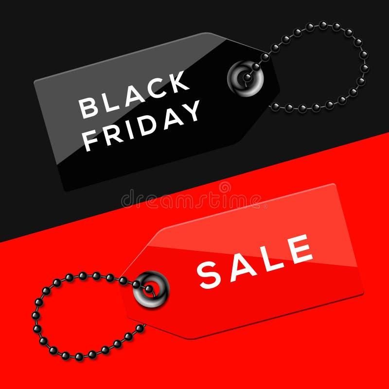 Black Friday sprzedaży etykietki ilustracji