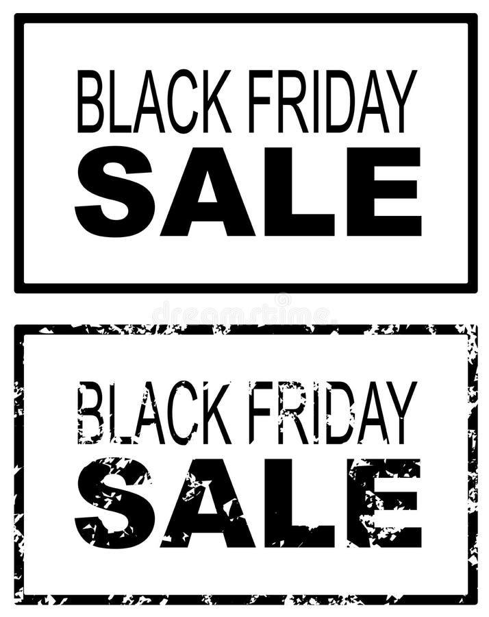 Black Friday sprzedaży Grunge sztandar ilustracja wektor