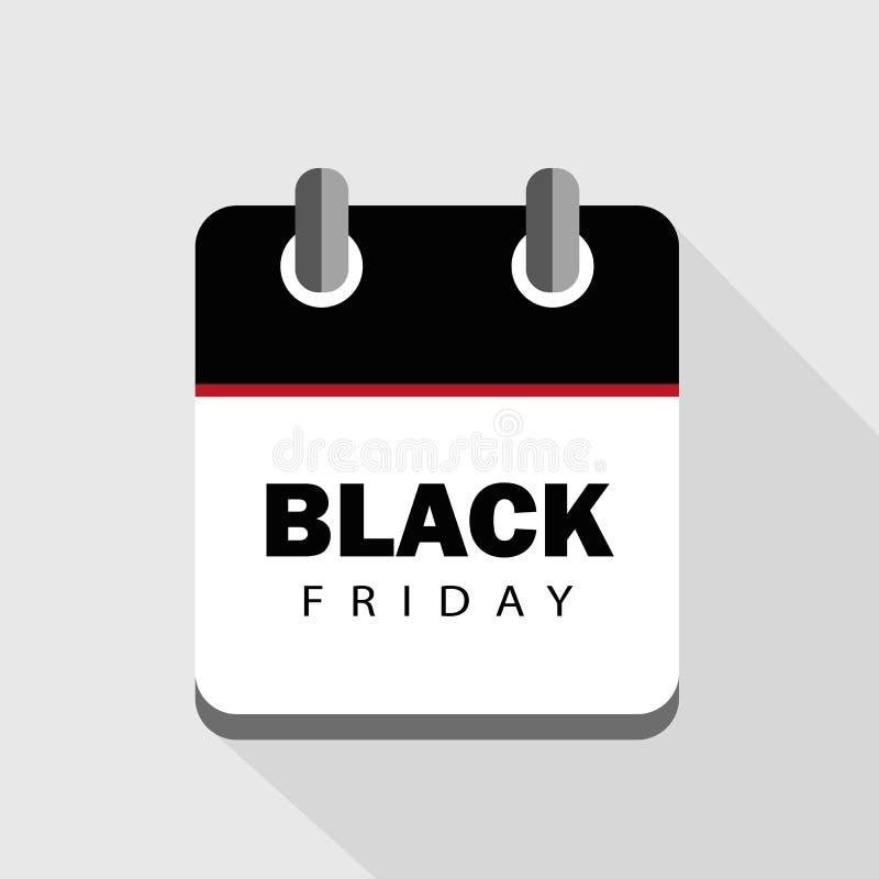 Black Friday sprzedaży kalendarza reklama royalty ilustracja